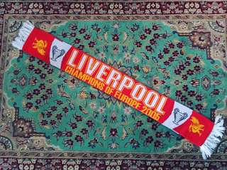 Liverpool Champions of Europe 2005 Rare Vintage Scarf