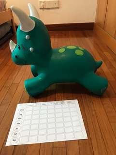 Bouncy dinosaur for toddlers to jump on