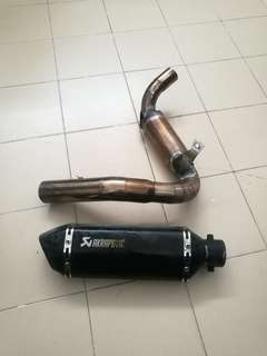 Muffler n paiping+ power boom ktm d200
