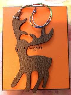 Hermes Petit H Reindeer Bag Charm