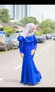 Royale blue dress
