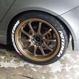 Sticker tyre murah dan kualiti