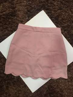 Shopcopper Scallop Mini Skirt
