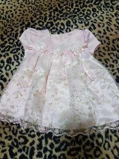 Baby formal pink dress (3-6mos)