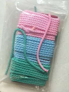 One packet of colourful ropes