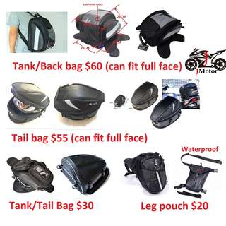 tail bag/tank bag motorcycle motor bike magnetic