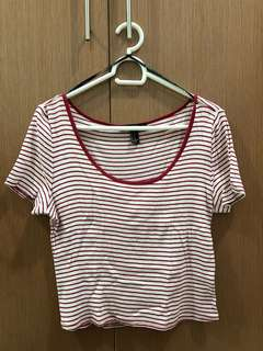 Forever 21 Red and White Stripes Shirt