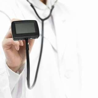 LED back light Multi-Function Electronic Stethoscope+ ECG + SPO2 Probe