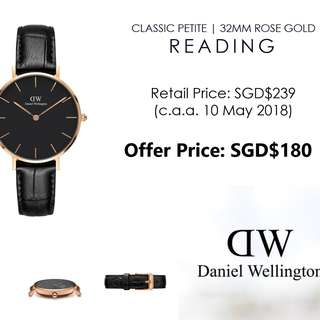 [Cheapest!] Authentic Daniel Wellington Classic Petite Reading 32mm Rose Gold