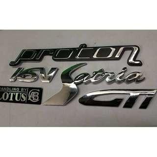 Emblem Satria GTI full set