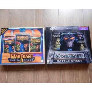 WarCraft II + StarCraft Battle Chest, USA version, very good condition