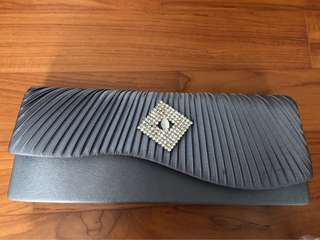 Grey clutch for sale