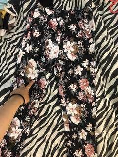 Celana jegging floral