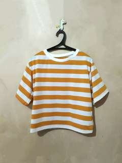 REPRICED❗❗❗Stripes ringer tee
