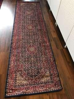 100% man-made silk oriental runner carpet/rug