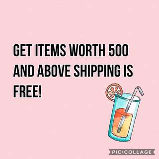 If your purchase items worth 500 and above sf is free!!