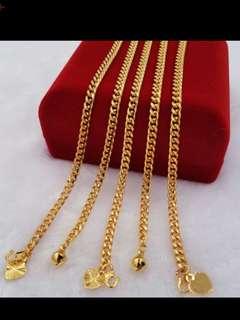 Emas korea 24K gelang tangan kanak2 & dewasa - 10 design