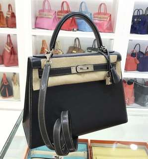 Hermes Kelly 28 鉛筆灰 EPSOM 外縫