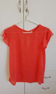 Bloody orange woolen shirt
