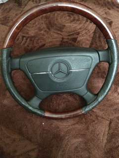 W124/w210/w123 Mercedes wooden steering