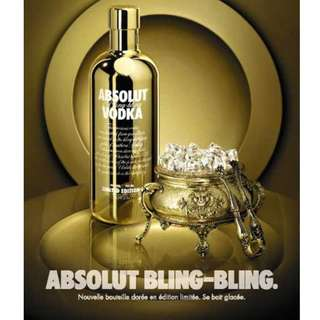 New Absolut Bling Bling Collectors Gold Edition
