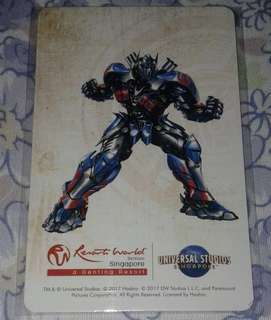 Transformers Ez link Card for Transportation