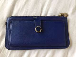 Charles & Keith blue wallet long