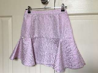 Mossman purple metallic skirt
