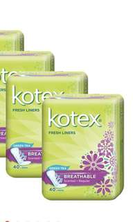 Kotex Fresh Liner 40pcs (Scented) New!