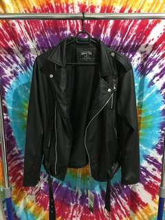 Jacket leather for woman