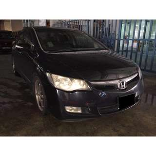 01/06/2018 - 04/06/2018 HONDA CIVIC 1.8A ONLY $210 (P PLATE WELCOME)
