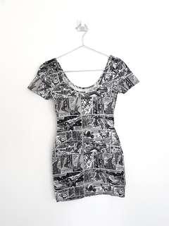 NEW Marvel Comic Bodyfit Mini Dress