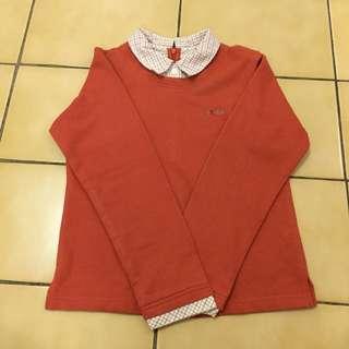 (九成新)Les Enphants 麗嬰房 familiar 女童裝 上衣 長袖💮