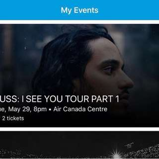 2 RUSS TORONTO TICKETS $40 FOR BOTH