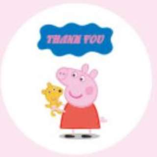S68: Seal Sticker - Thank You (Peppa Pig)
