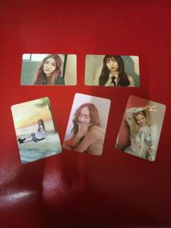 WTS gfriend,snsd and Jessica photocard