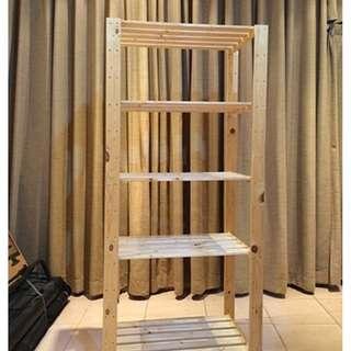 IKEA  木製四層架