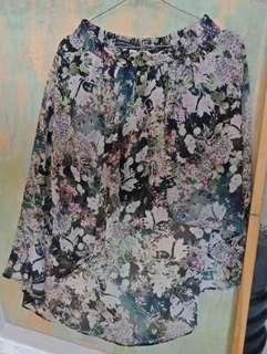 Asymmetrical Zara Floral Skirt