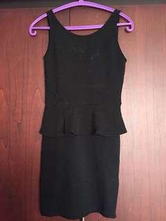 Low back peplum H&M dress