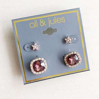 Ali&Jules Star and Stud Earring Set