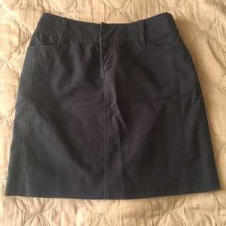 🚚 「三件💯專區」日系百貨專櫃深藍及膝裙