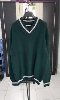 Mango Man, Knit Sweater, size M, Green