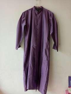 Gamis pria  bahan silk tafeta (outer)