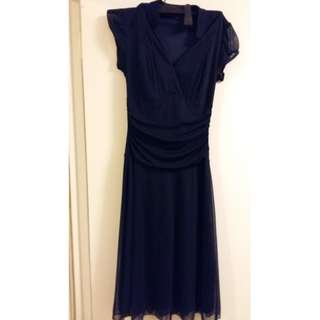 Le Chateau Navy blue dress - size S