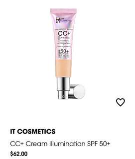 #MEDIUM IT COSMETICS  CC + Cream Illumination SPF 50