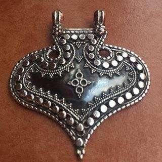 Sterling silver tribal arrow pendant