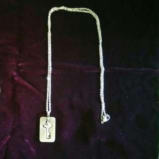 不銹鋼心型鎖頭手鈪 連頸鍊鎖匙 連飾物盒 只售$25