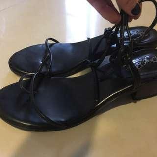 d+af 粗跟涼鞋