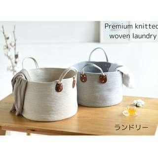 Japan Knitted Laundry Basket | Premium