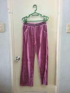 Velvet Jogging Pants